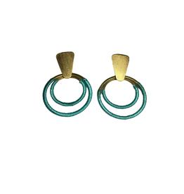 Global Crafts Teal Hoop Earrings