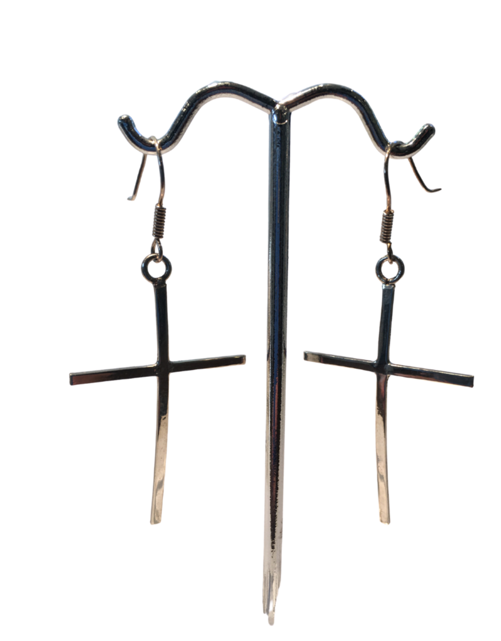 Global Crafts Sterling Silver Cross Earrings