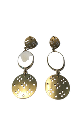 Global Crafts Mother of Pearl Gold Earrings