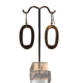 Mair Boomie Kaia Earrings Gold Colour Oval Links