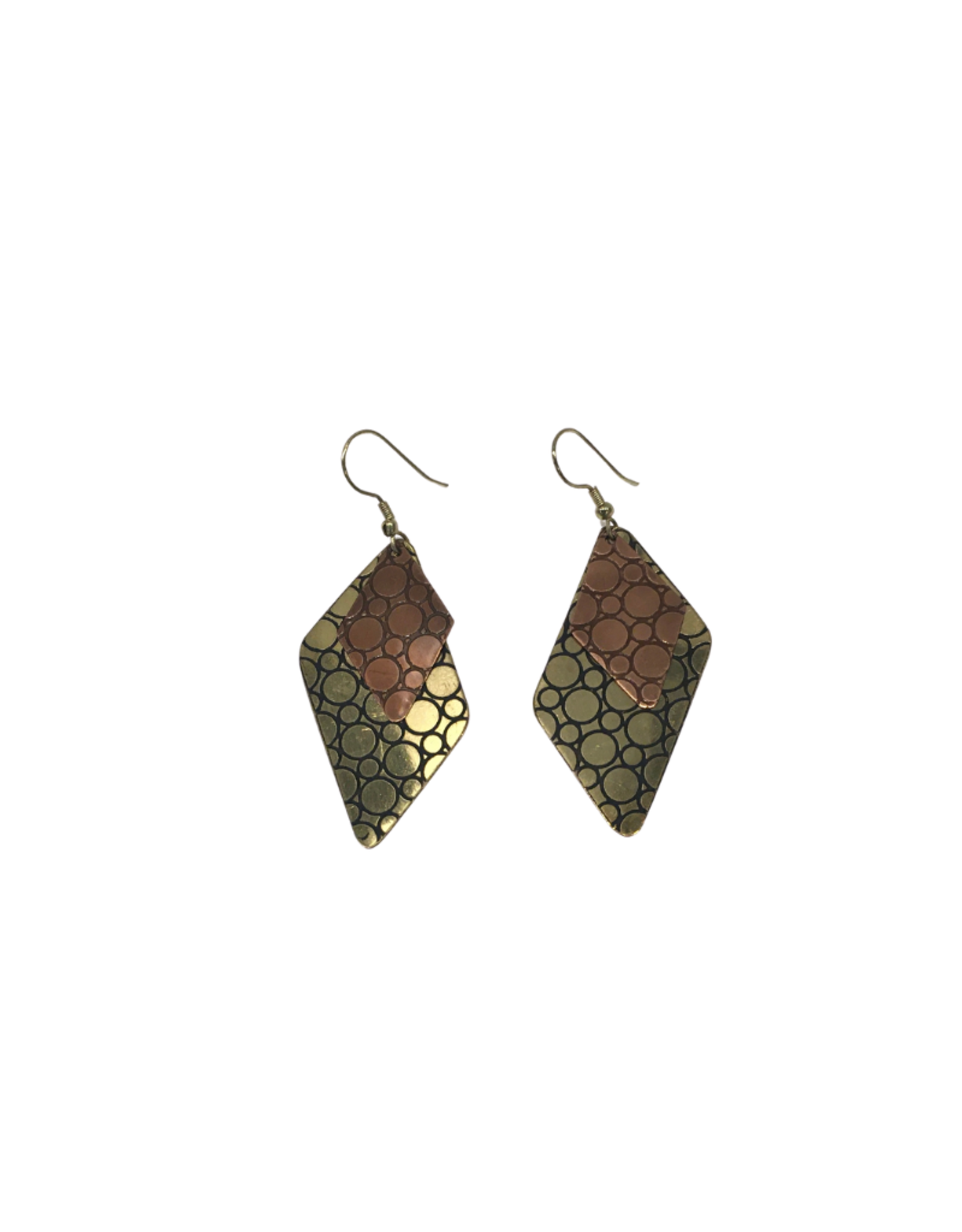 Ten Thousand Villages Brass & Copper Dangle Earring