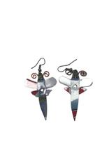 Takataka Recycled Popcan Dragonfly Earrings