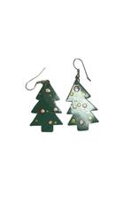 Christmas Tree Tin Earrings