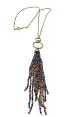 Ten Thousand Villages Beaded Tassle Necklace
