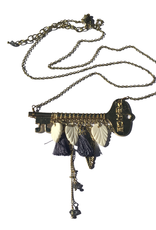 Ten Thousand Villages Unlocked Secrets Key Necklace