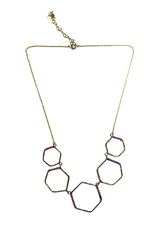 Ten Thousand Villages Wrapped Honeycomb Necklace