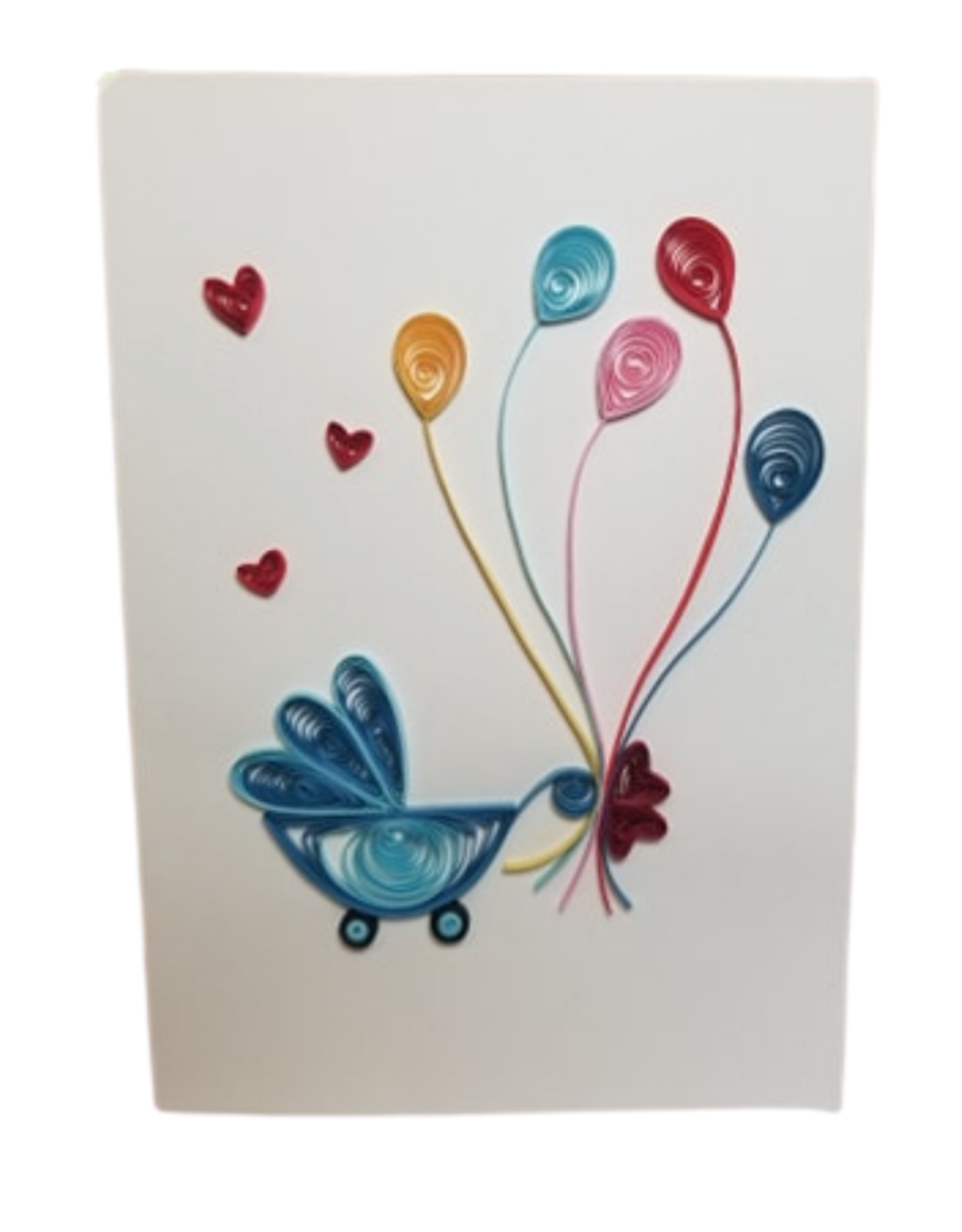 Welcome Baby Quilled Greeting Card
