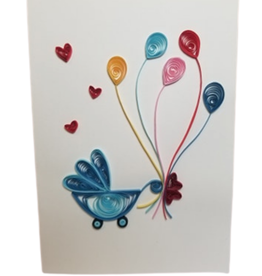 Welcome Baby Quilled Greeting Card - Vietnam