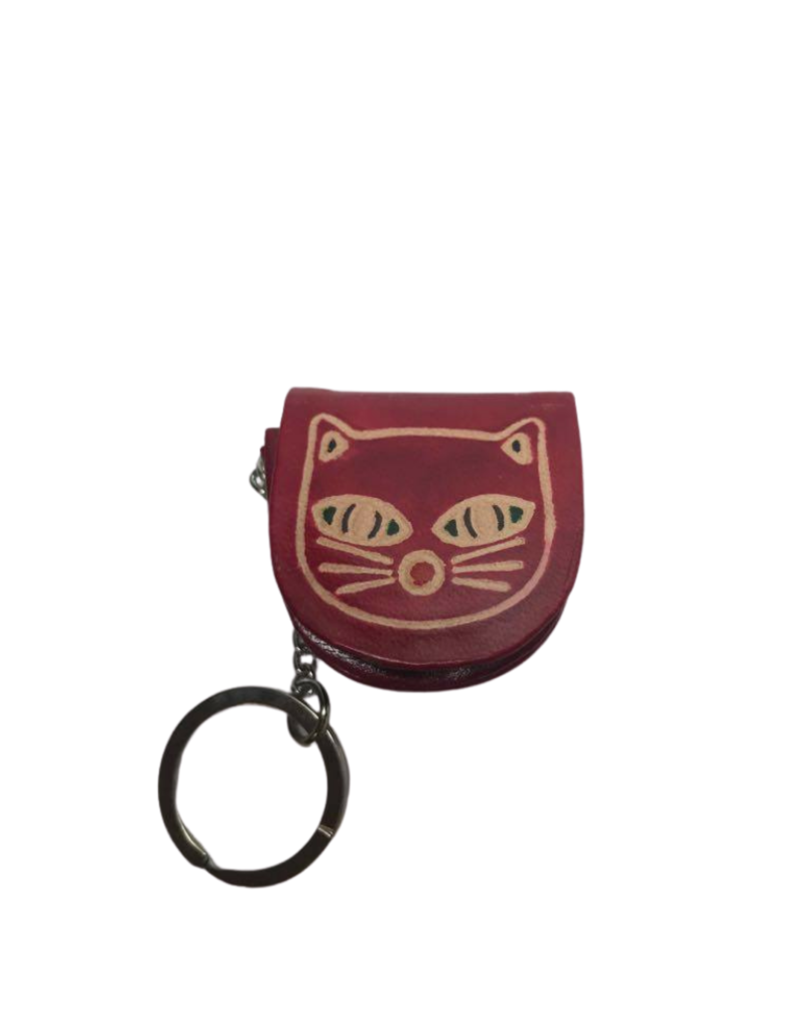 Ten Thousand Villages Kitty Keychain and Coin Purse