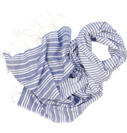 Craft Resource Centre Blue & White Lines Scarf