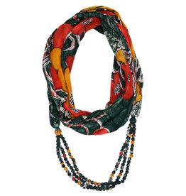 Sacred Mark Sari Wrap Infinity Scarf (assorted colours)