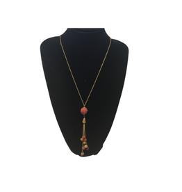 Ten Thousand Villages Sari Bead Dangle Necklace