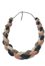 Ten Thousand Villages Perfect Pastels Braided Necklace