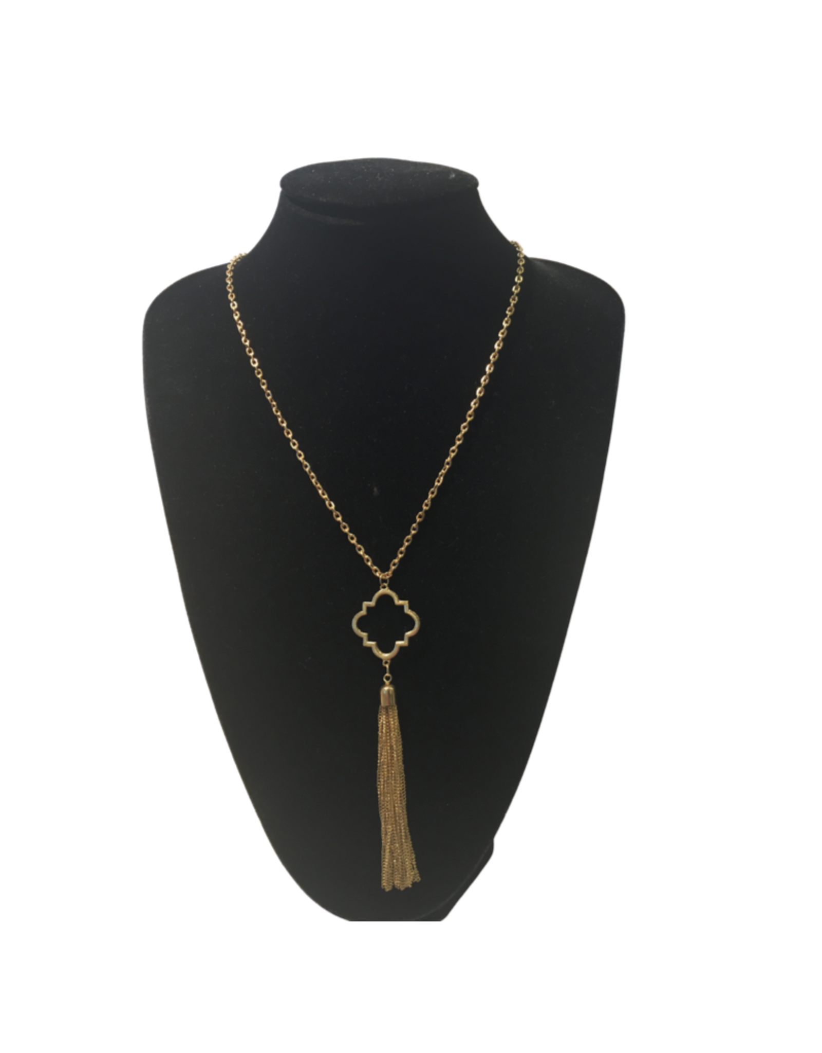 Ten Thousand Villages Gold Tassel Necklace