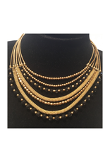 Ten Thousand Villages Gold Beaded Necklace