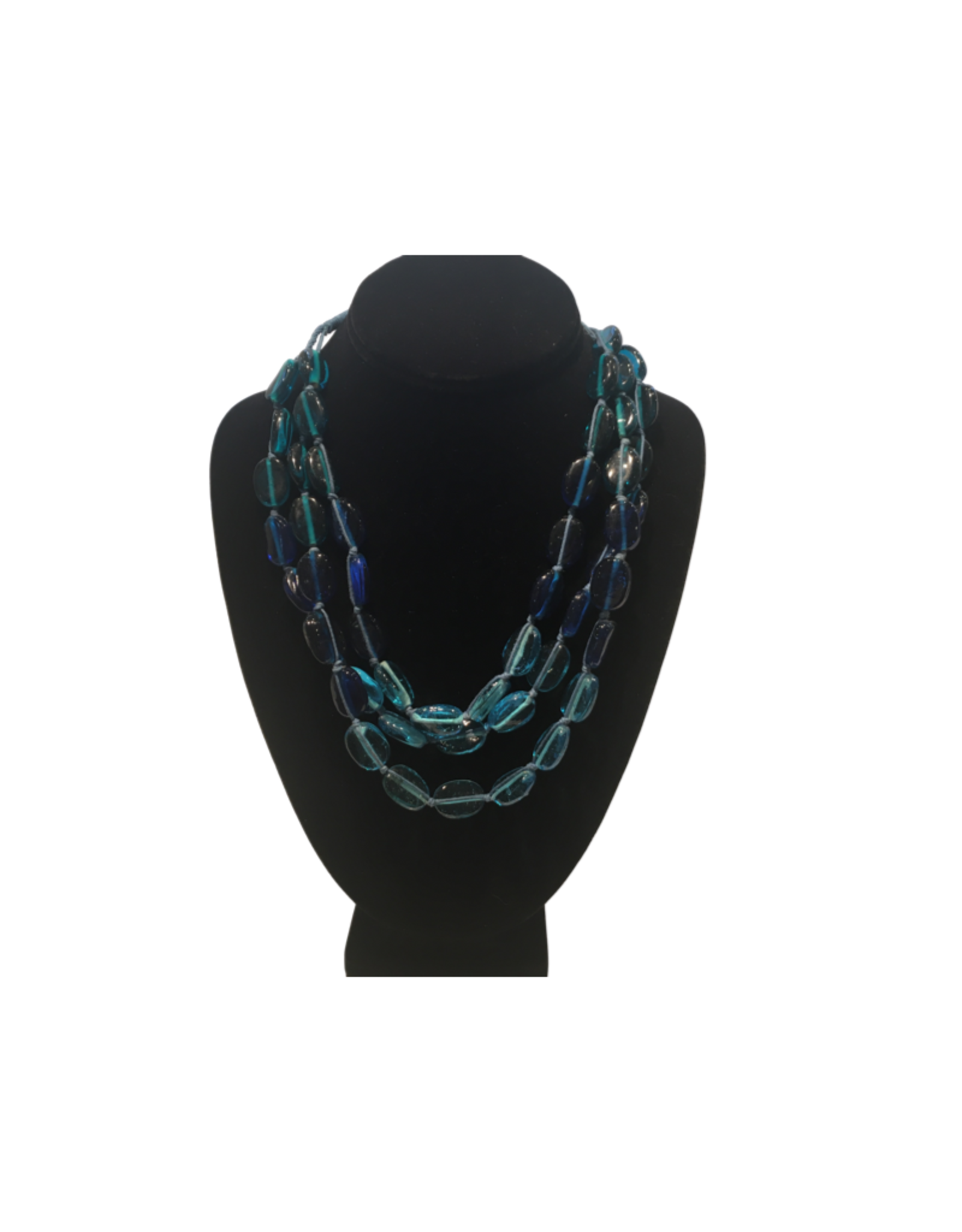 Ten Thousand Villages Flowing River Beaded Necklace