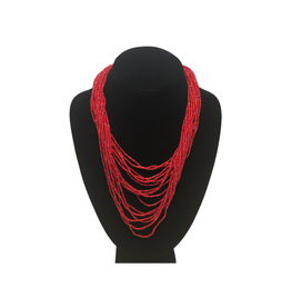 Ten Thousand Villages Red Beaded Necklace