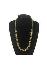 Ten Thousand Villages Green Recycled Bottle Necklace