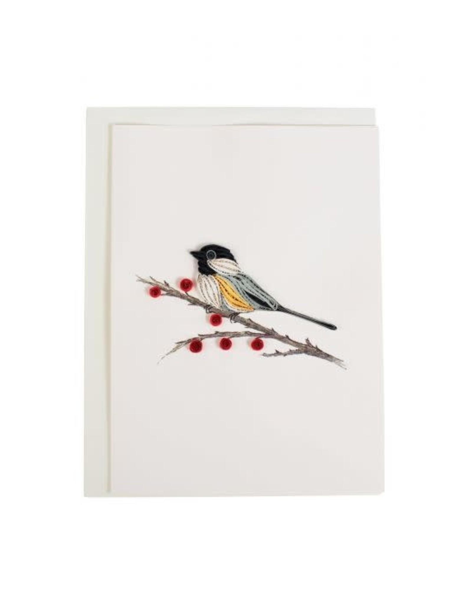 TTV USA Quilled Chickadee Card