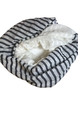 Sasha Black & White striped infinity scarf