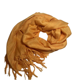 Ten Thousand Villages Patterned Mustard Scarf