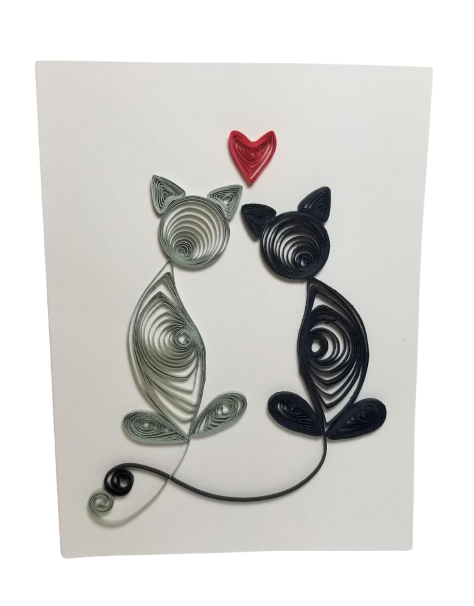 Loving Cats Greeting Card