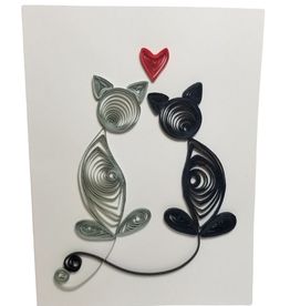 Card Quilled Loving Cats  - Vietnam