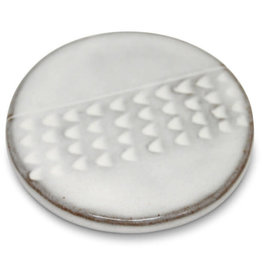 Sana Hastakala White Stoneware Coaster