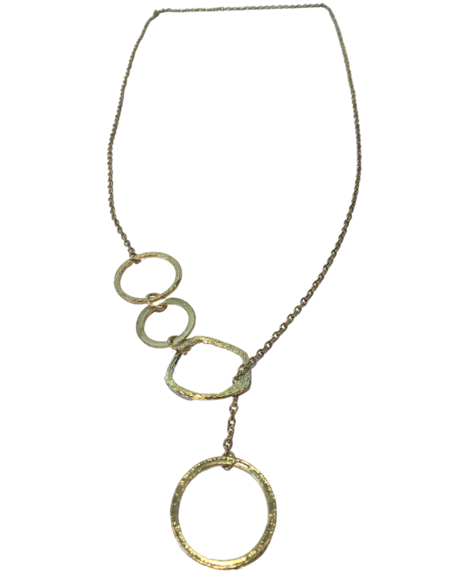 Gold Necklace with Rings