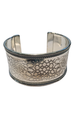 Silver Embossed Bangle