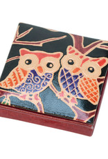 Craft Resource Centre Leather Owl coin purse