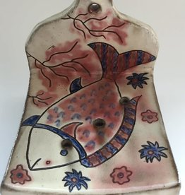 Pottery Soap Holder - Fish - Blue Waves