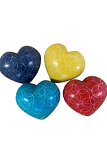 Heart Shaped Kisii Stone Paperweights