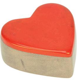 Undugu Society of Kenya Kisii Treasure Heart Box - Red
