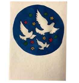 Eco Fair Card Peace Greeting Blue - Nepal
