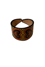 Leather Ring - Hand Painted Hearts