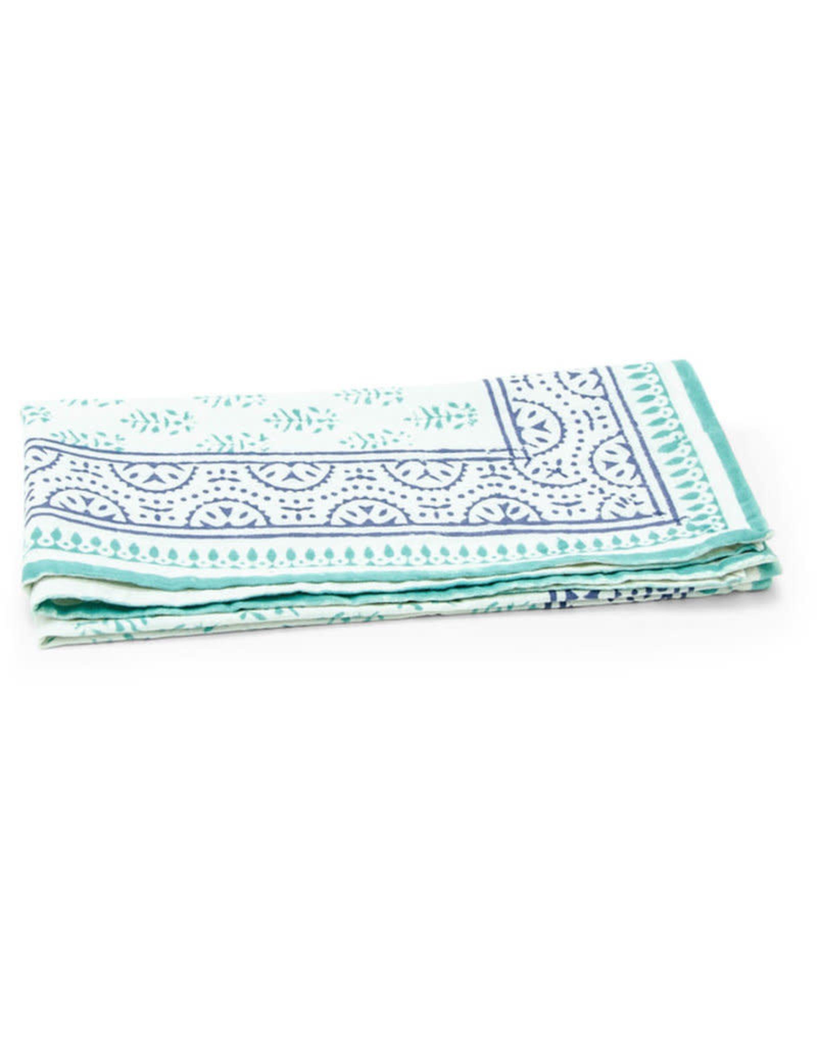 Asha Handicrafts Turquoise Chevron Napkin