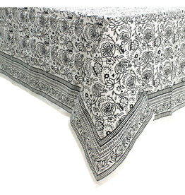 Asha Handicrafts Monochrome Block Print Tablecloth