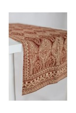 Asha Handicrafts Beige Paisley Table Runner