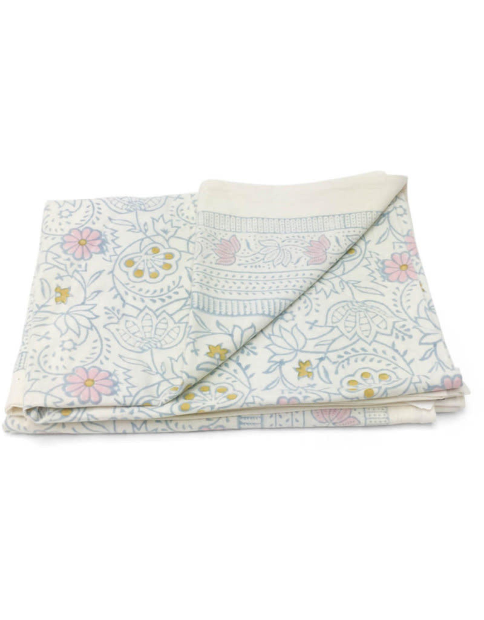 Asha Handicrafts Pastel Floral Tablecloth