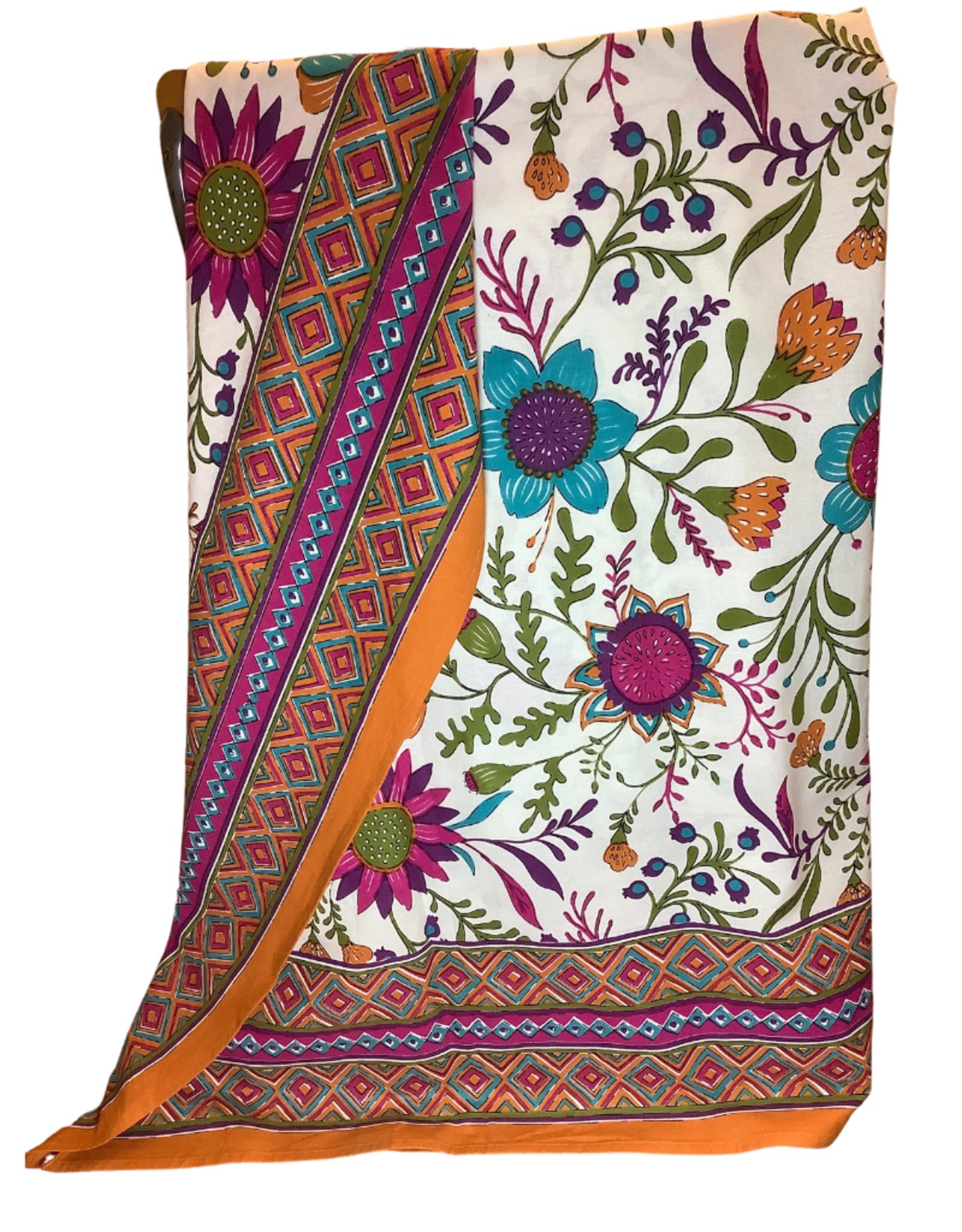 "Asha Handicrafts Tablecloth Flower Power, 60X90"""