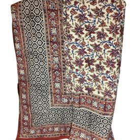 "Tablecloth, Rust Leaf Cotton,  175cm x 300cm / 70X120"""