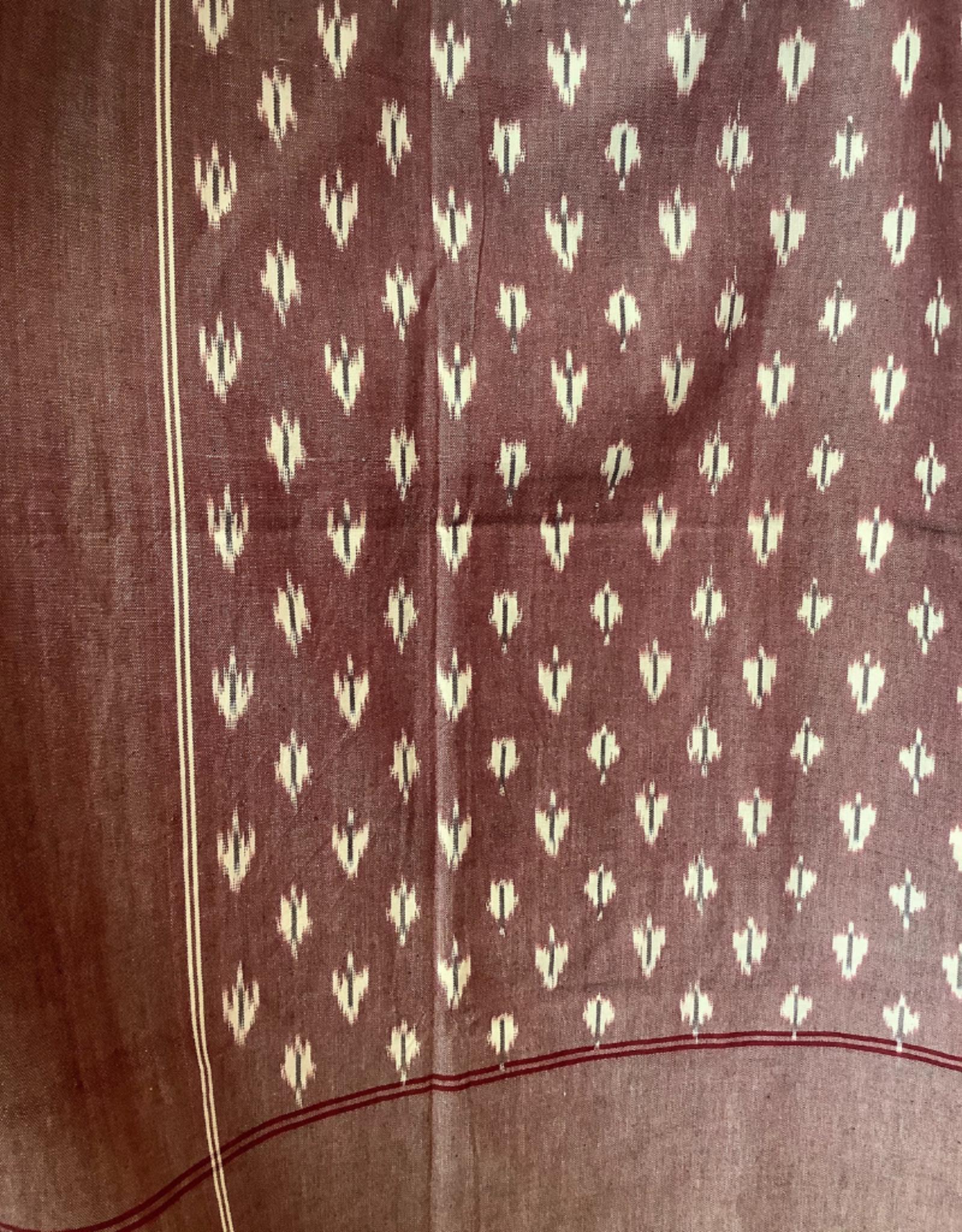 Cranberry Ikat Tablecloth