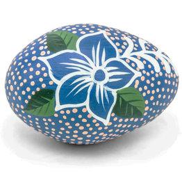 Ten Thousand Villages Blue Shaker Egg