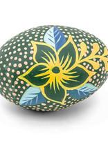 Ten Thousand Villages Green Shaker Egg