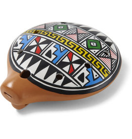 Ten Thousand Villages Inca Ceramic Ocarina Flute (Medium)
