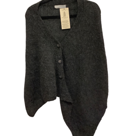 Kumbeshwar Technical School Shawl w/3 Buttons Charcoal Grey Wool