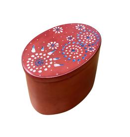 Oval Mandala Kisii Stone Box (lrg)