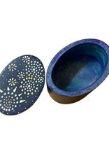 Oval Mandala Kisii Stone Box (sm)