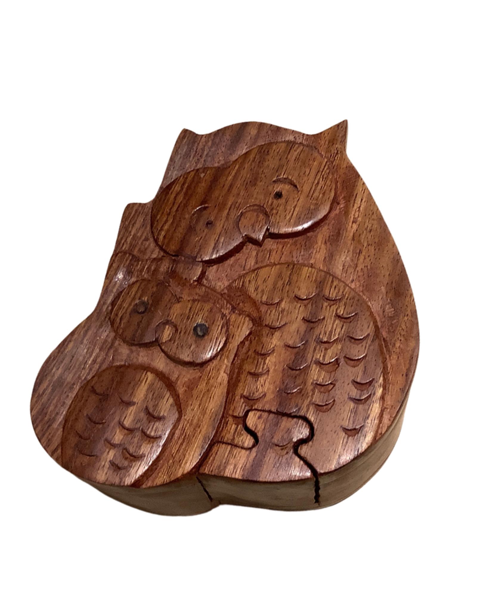 Cuddling Owls Puzzle Box